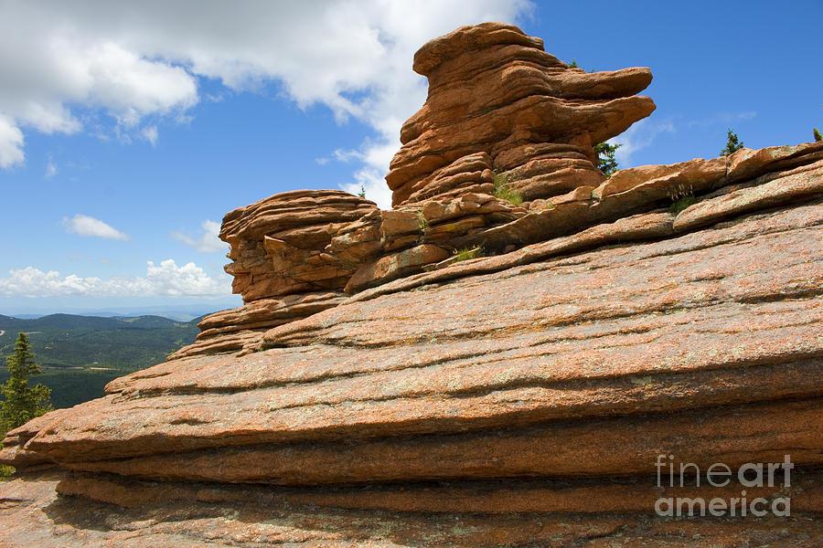 Pancake Rocks On Pikes Peak Colorado Photograph