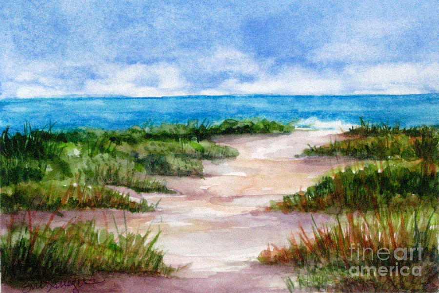 Beach Painting - Path To The Beach by Suzanne Krueger