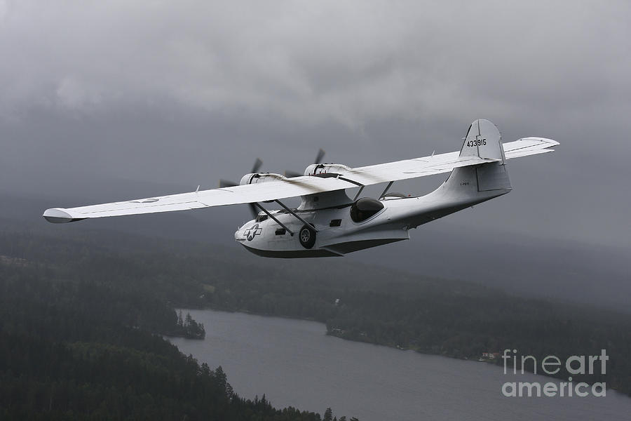 Transportation Photograph - Pby Catalina Vintage Flying Boat by Daniel Karlsson