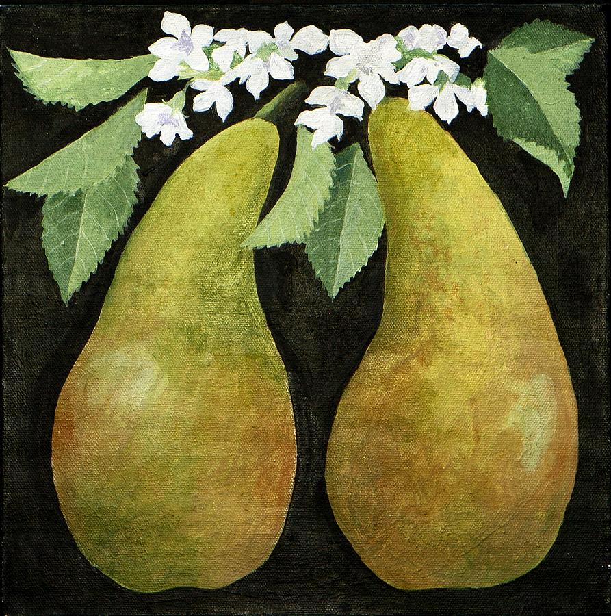 Pears Painting by Jennifer Abbot