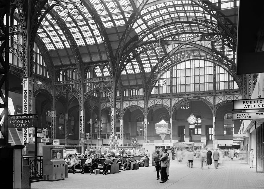 1960s Photograph - Pennsylvania Station, Interior, New by Everett