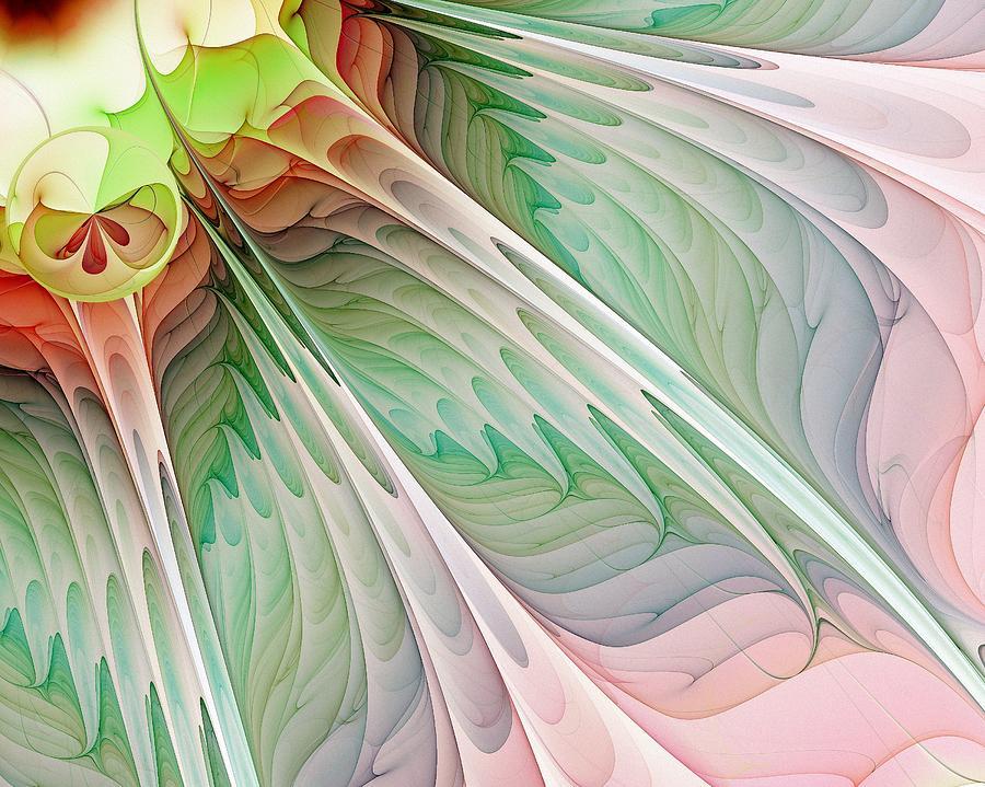 Fractal Digital Art - Petals by Amanda Moore