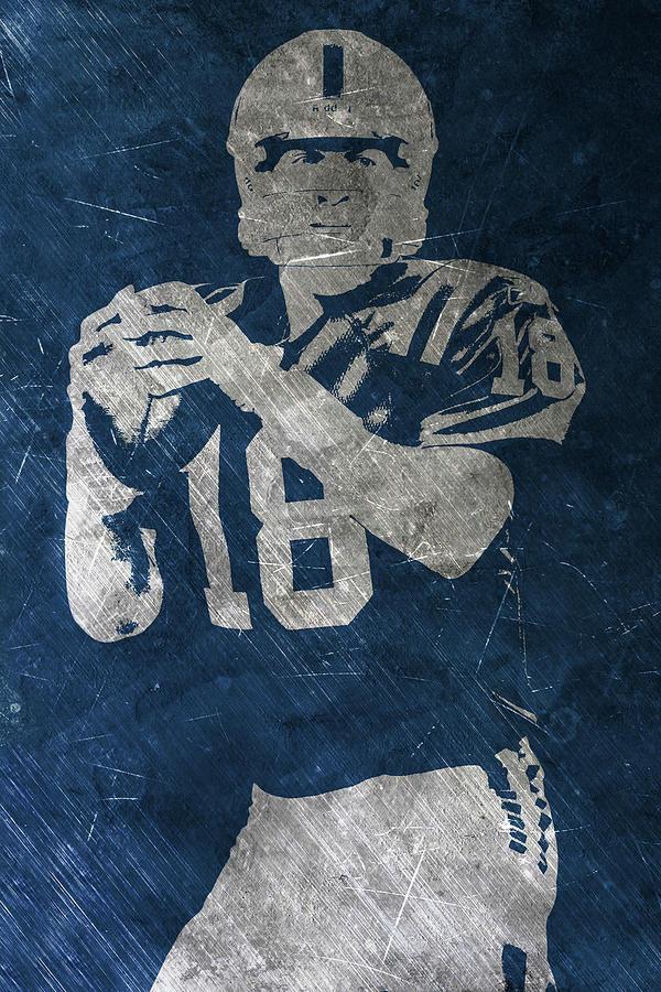 Peyton Manning Painting - Peyton Manning Colts by Joe Hamilton