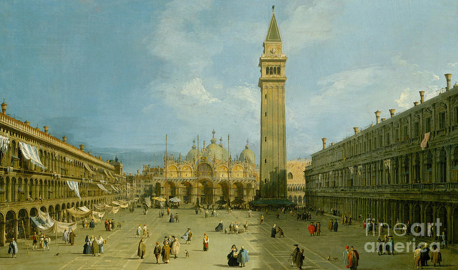 Canaletto Painting - Piazza San Marco by Canaletto