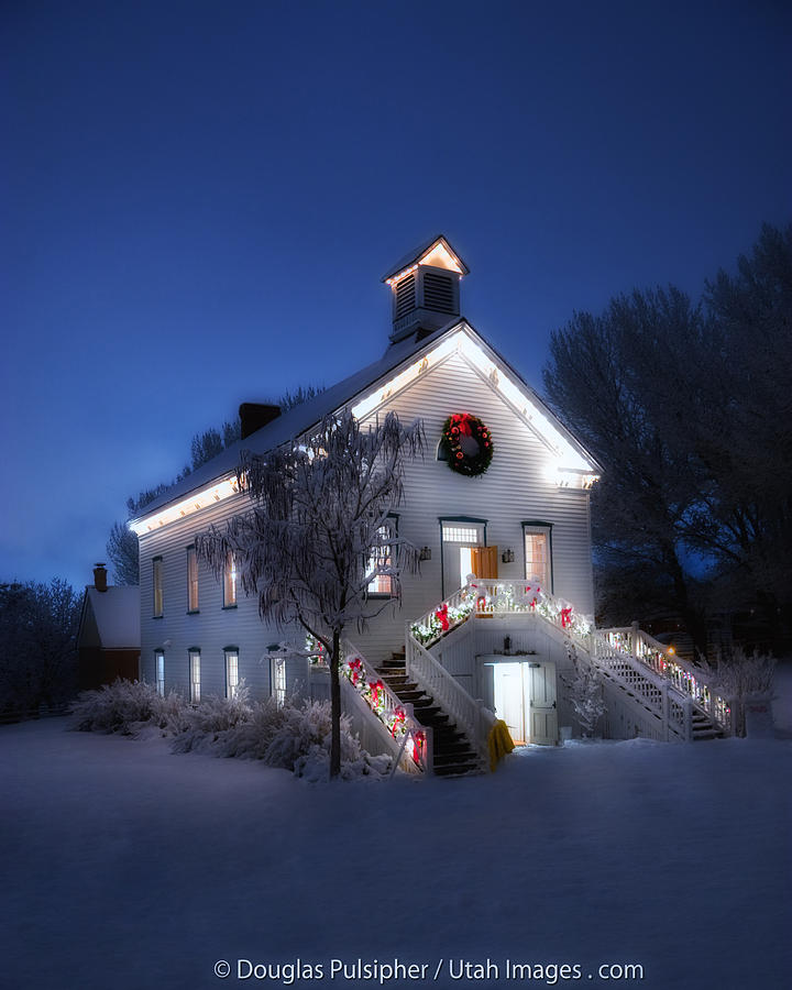 Pioneer Chapel at Christmas by Douglas Pulsipher