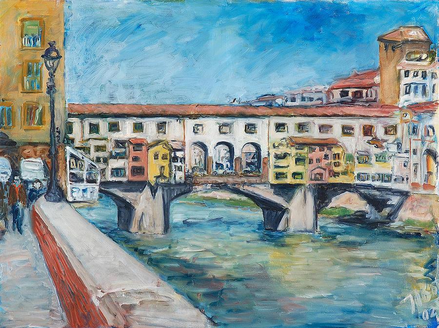 Florence Painting - PonteVecchio by Joan De Bot