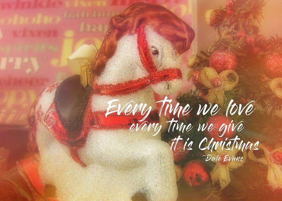 Pony Photograph - A Pony For Christmas Quote by JAMART Photography