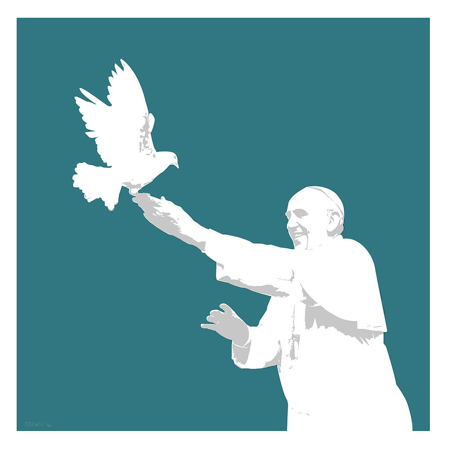 Pope Francis Digital Art
