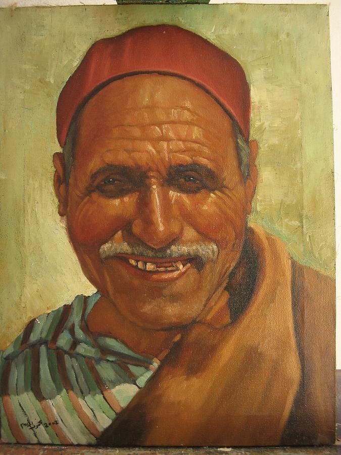 Poritrait Painting by Mahmoud Alhsi