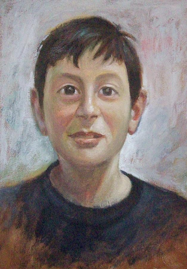 Portrait Of A Boy Painting by George Siaba