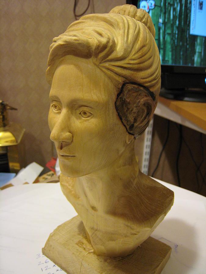 Carving Sculpture - Portrait-style Bust by Braven Smillie