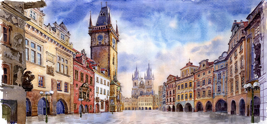 Prague Painting For Sale