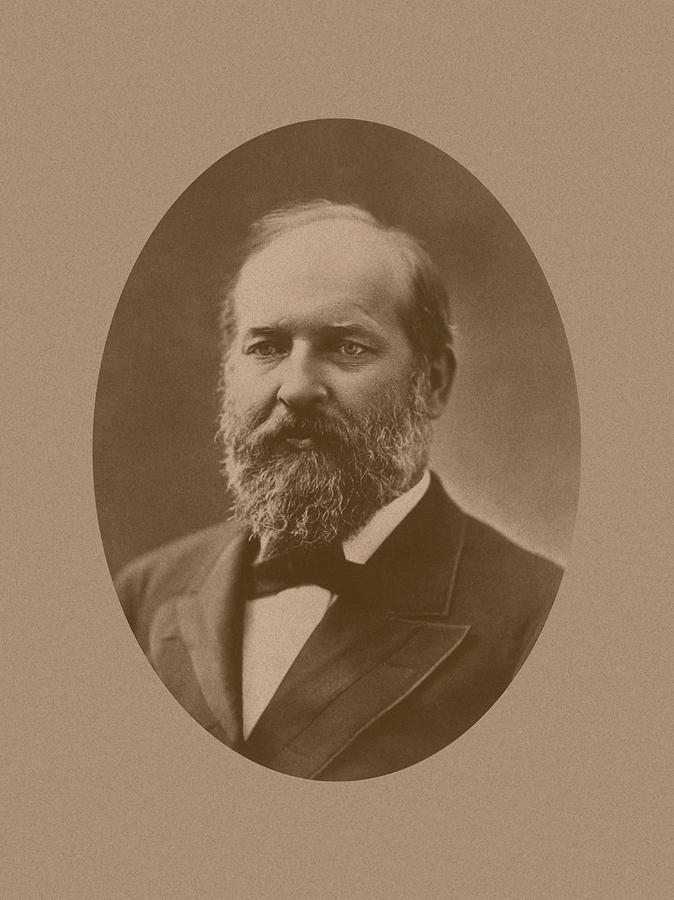 James Garfield Photograph - President James Garfield by War Is Hell Store