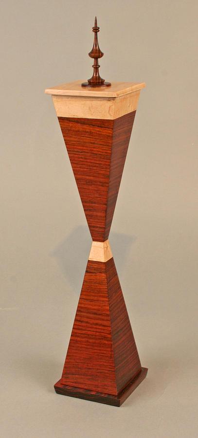 Coco Bolo Sculpture - 2 Pyramid Box by Alan Carter