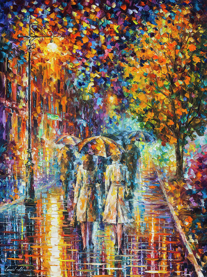 Painting Painting - Rainy Evening by Leonid Afremov