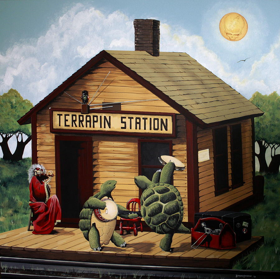 Grateful Dead Painting - Recreation Of Terrapin Station Album Cover By The Grateful Dead by Ben Jackson
