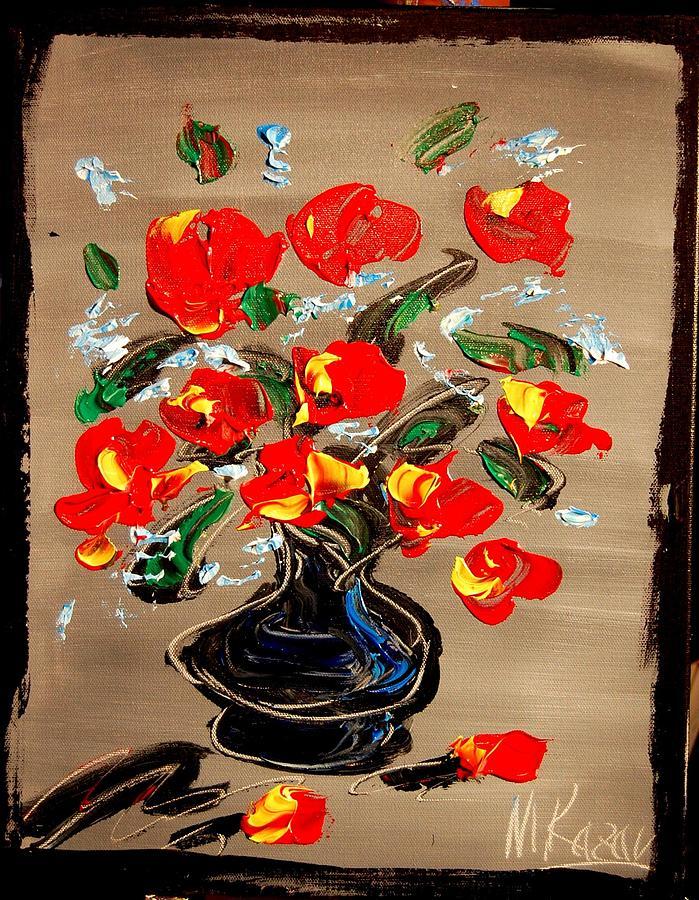 Red Roses Painting by Mark Kazav