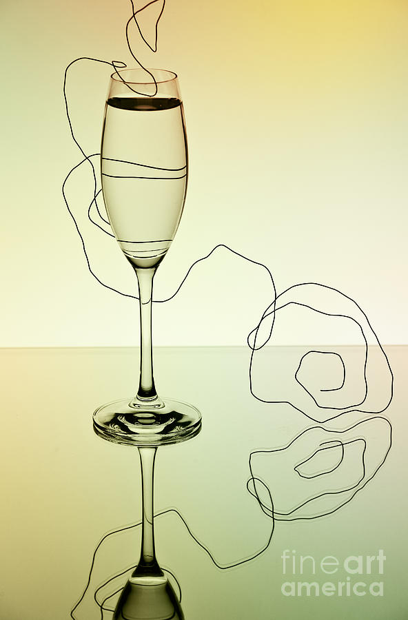 Glass Photograph - Reflection by Nailia Schwarz