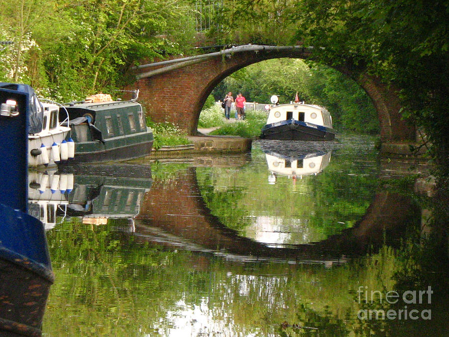 Canal Photograph - Reflections by Cathy Weaver