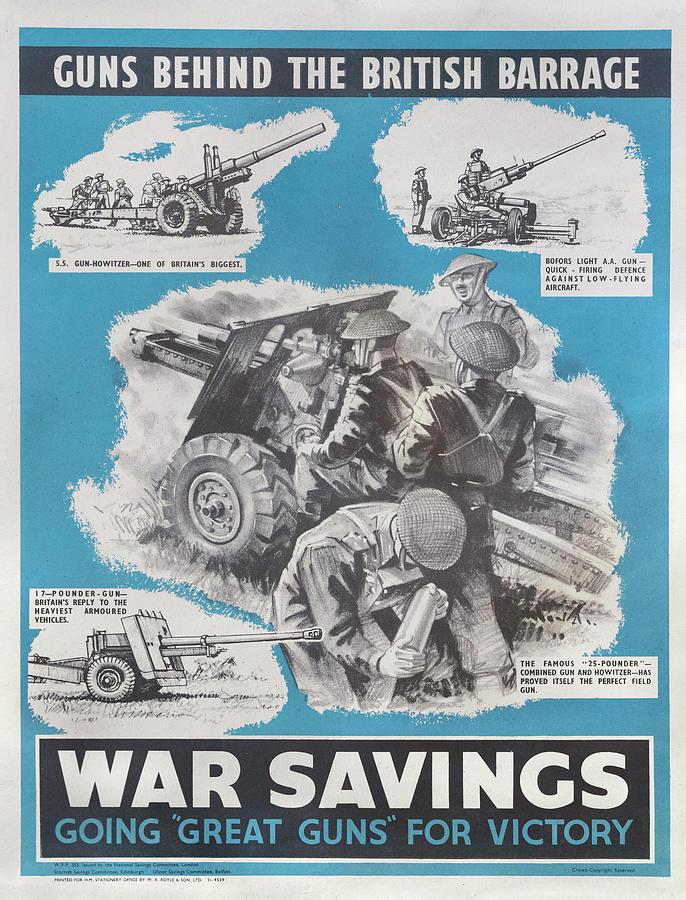 Reprint Of British Wartime Poster Drawing