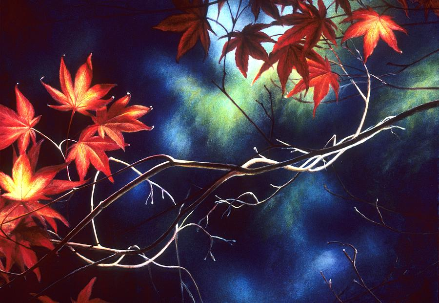 Leaves Painting - Reverie by Janet Landrum