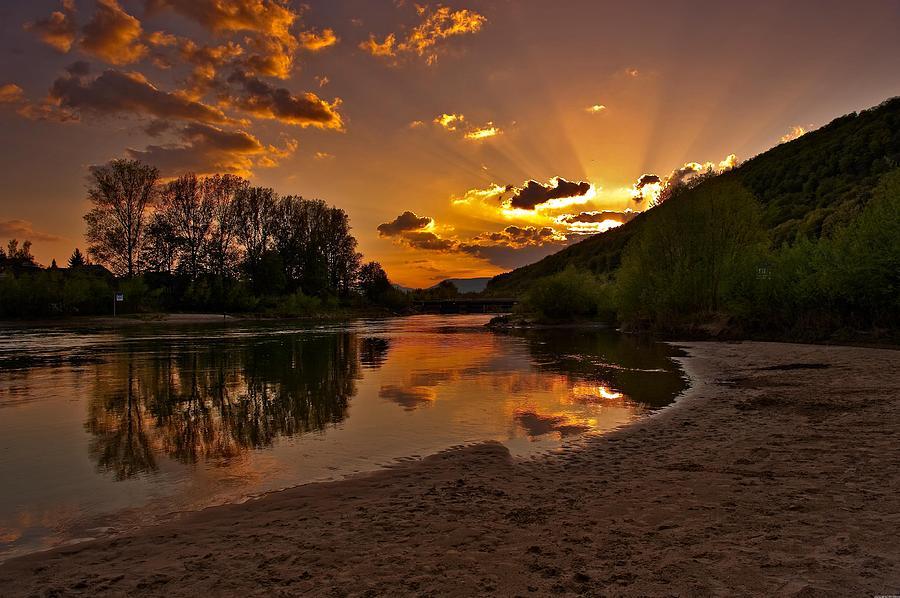 River Digital Art - River by Dorothy Binder