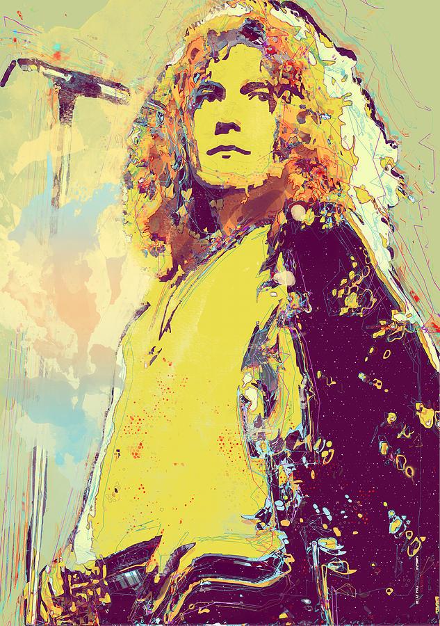 Robert Plant Digital Art - Robert Plant by Elena Kosvincheva