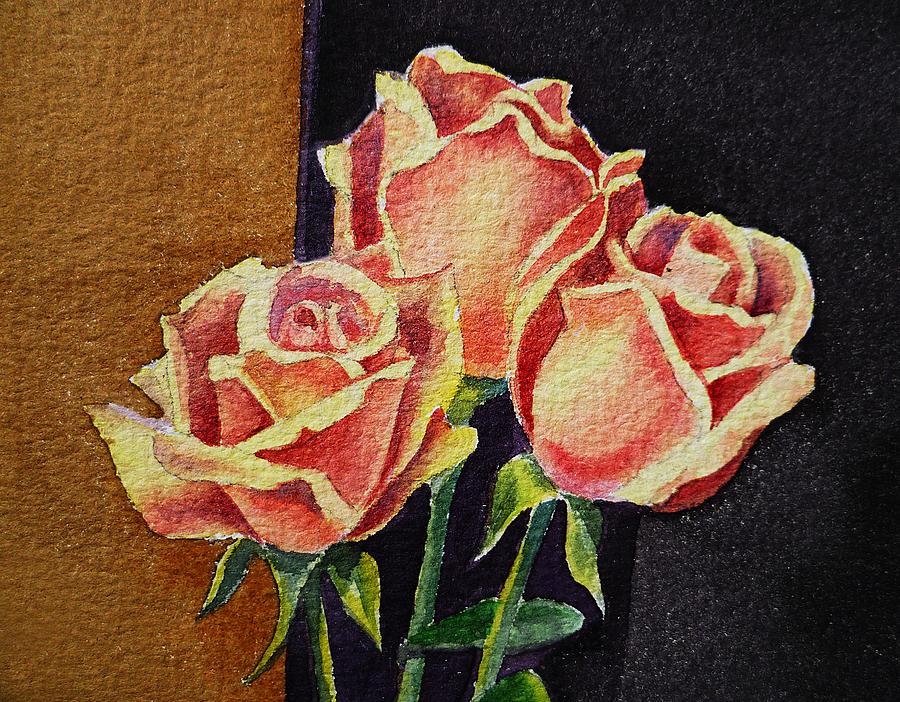 Rose Painting - Roses   by Irina Sztukowski