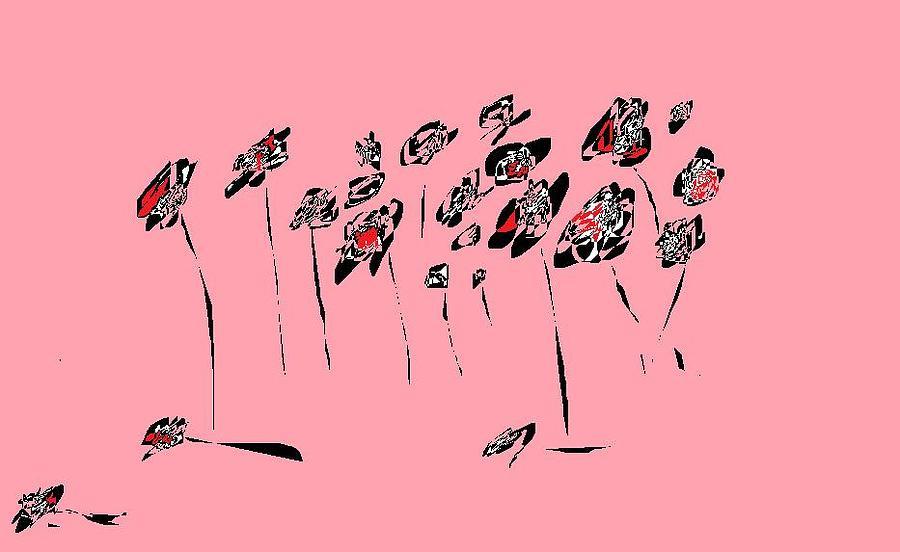 Colorful Digital Art - Roses by Nancy Forever