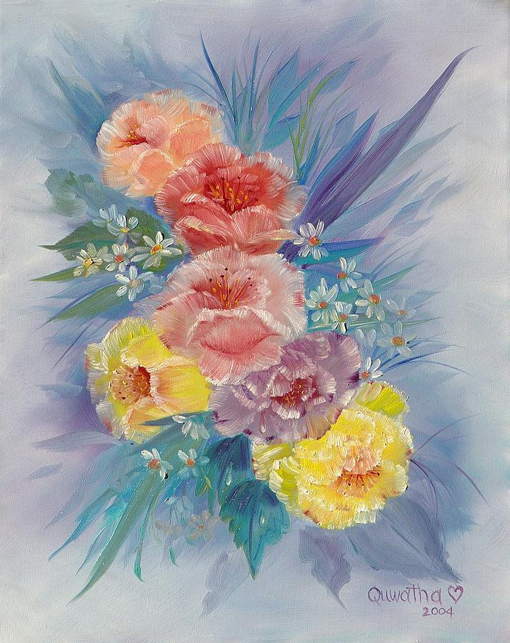 Roses Painting - Roses by Quwatha Valentine