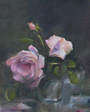 Armenian Painting - Roses by Tigran Ghulyan