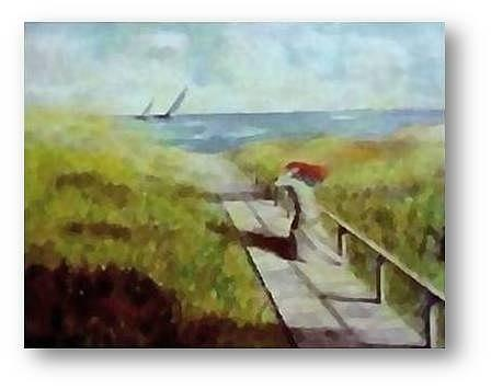 Running From Painting by Brian Higgins