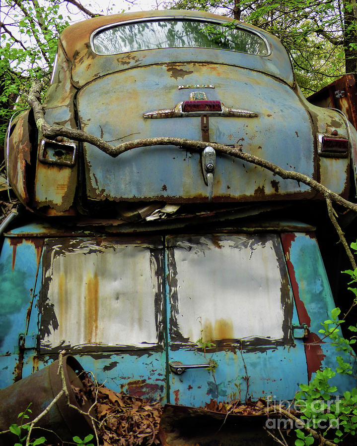 Old Cars Photograph - Rusted Series by Laura Atkinson