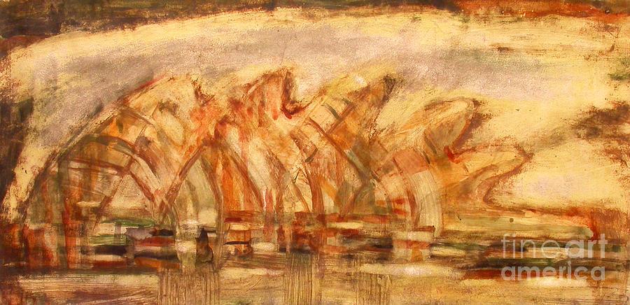 Sacred Land Rodopi Painting by Milush Mitushev