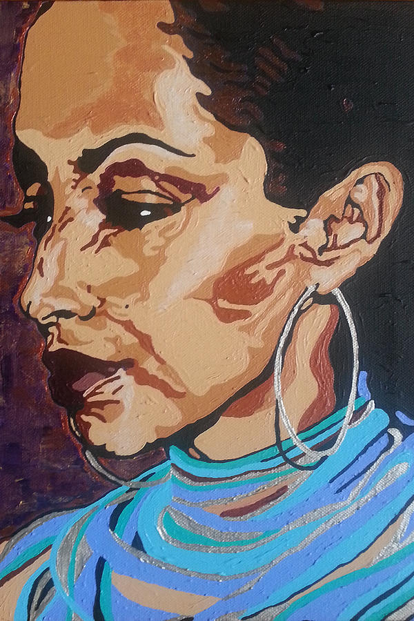 Sade Adu Painting - Sade Adu by Rachel Natalie Rawlins