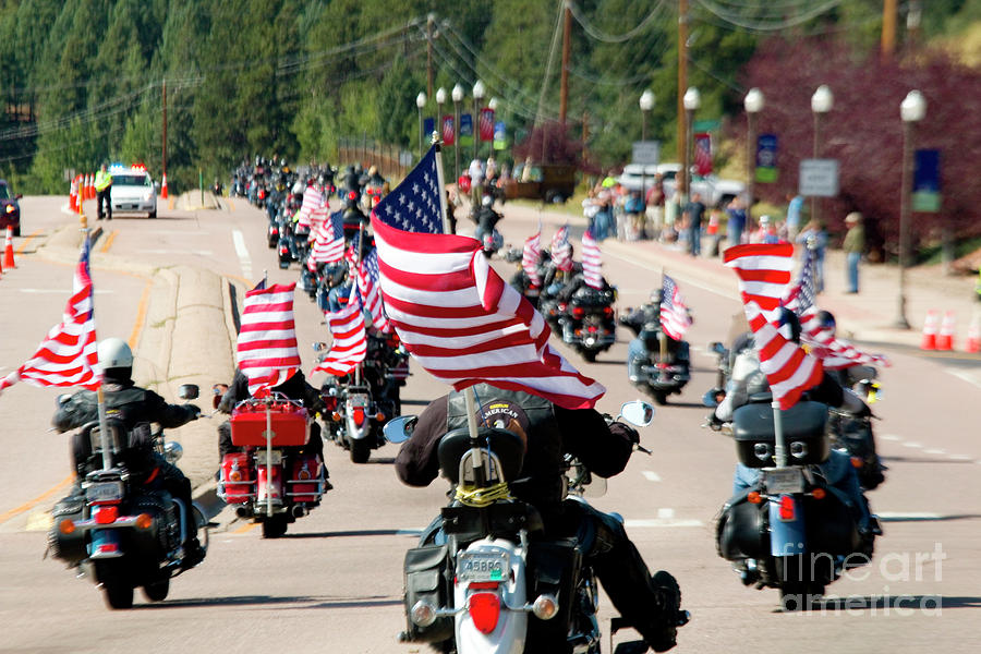 Salute To Veterans Bike Rally Photograph