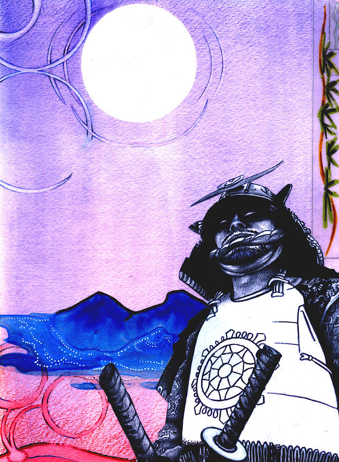 Singapore Painting - Samurai  Art For Seven Card Samurai by Chris Montecalvo