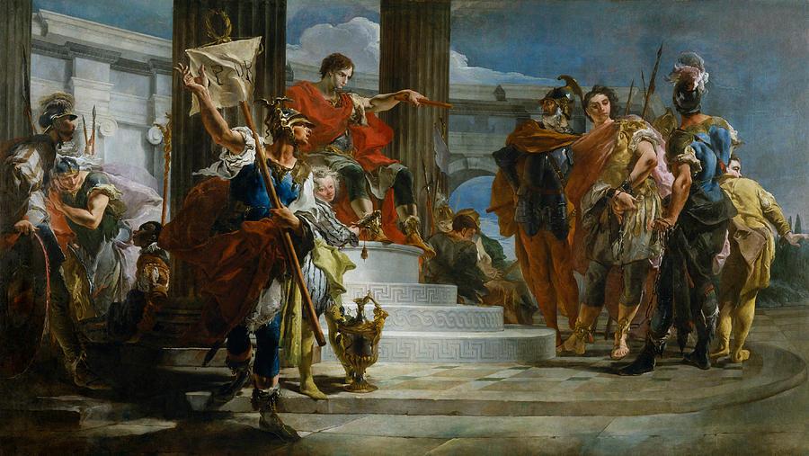 Italian Painters Painting - Scipio Africanus Freeing Massiva by Giovanni Battista Tiepolo
