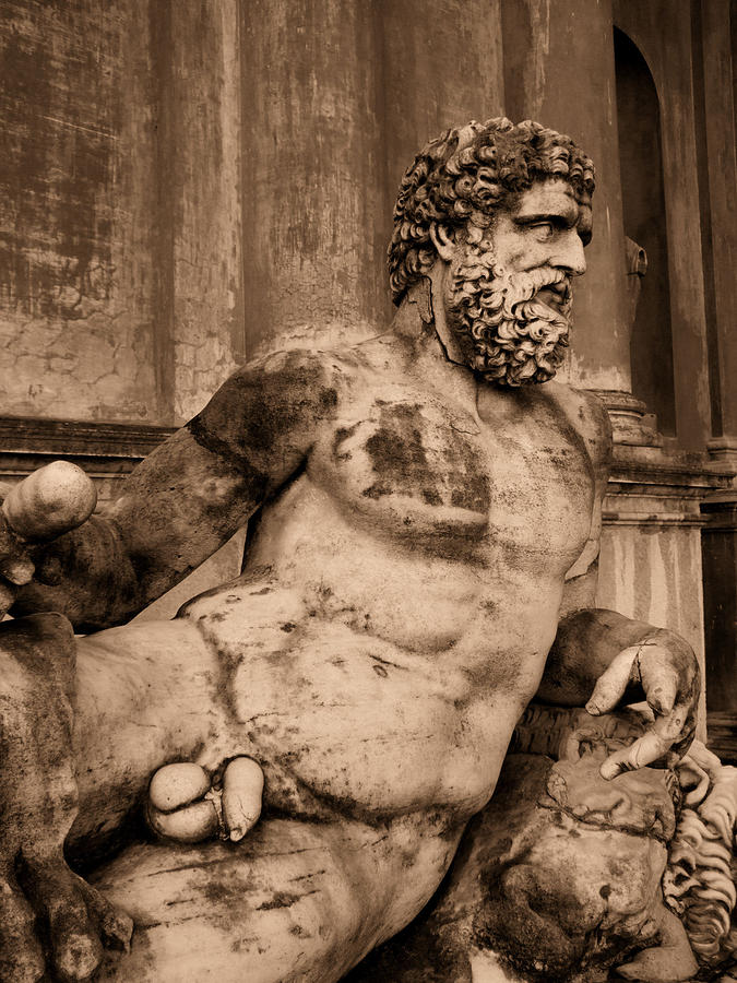 Sculpture Photograph - Sculpture Vatican Museum Rome Italy by Wayne Higgs