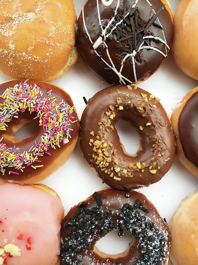 American Photograph - Selection Of Doughnut by Tom Gowanlock
