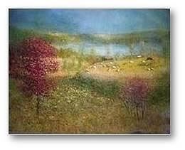 Sheep Painting - September Spotlight by Brian Higgins