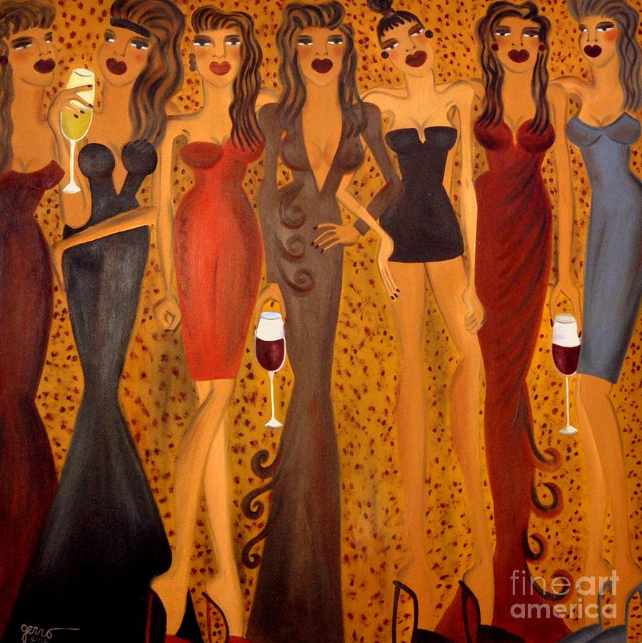 Seven Sisters of Pleiades Painting by Helen Gerro