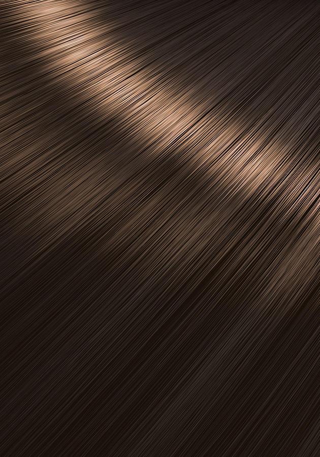 Brunette Digital Art - Shiny Brunette Hair  by Allan Swart