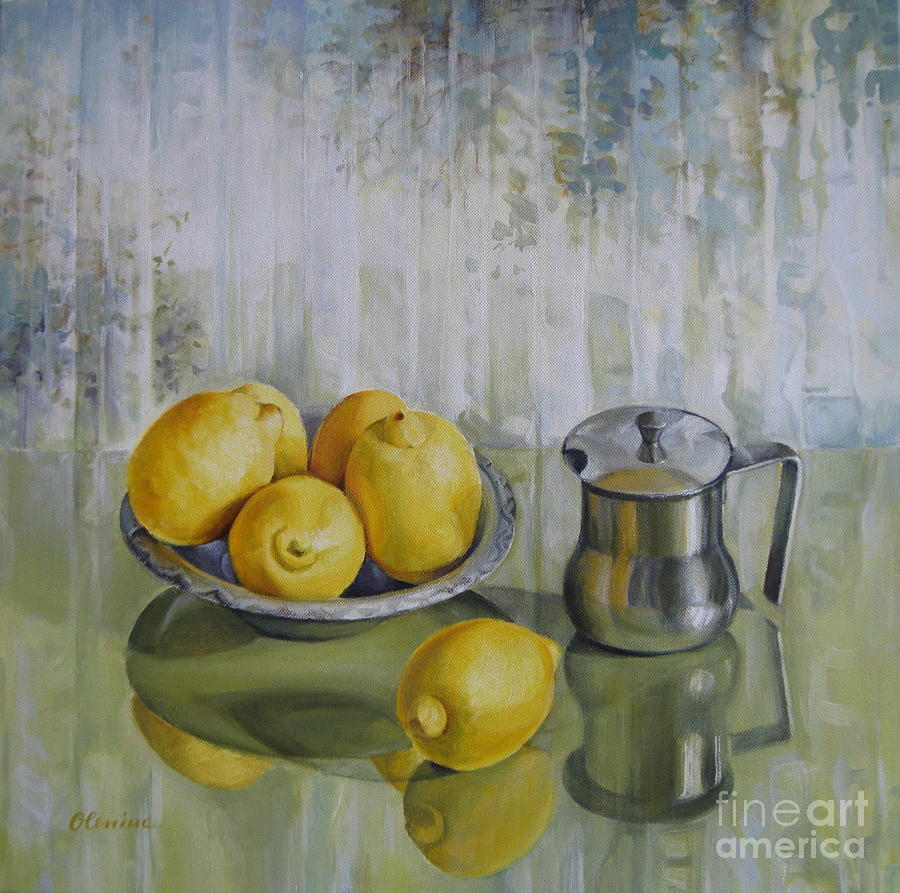 Yellow Painting - Silence by Elena Oleniuc