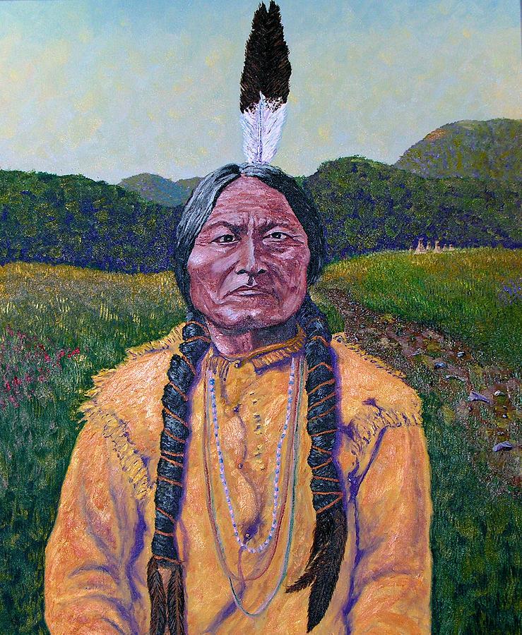 Sitting Bull Painting - Sitting Bull by Stan Hamilton