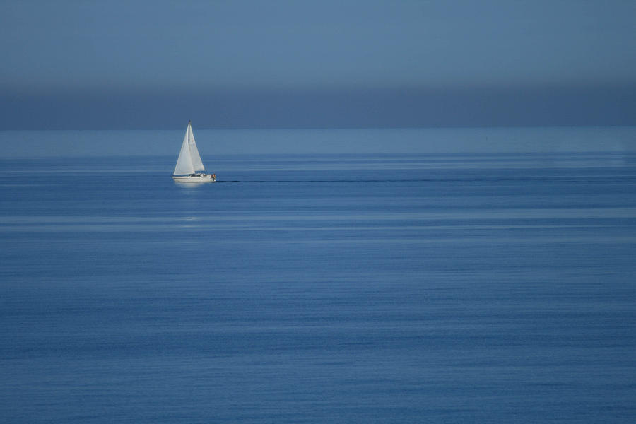 Sea Photograph - Sky Blue by Marta Grabska