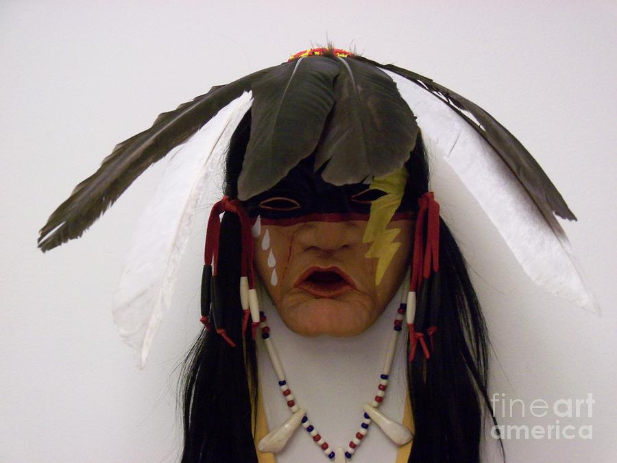Native American Sculpture - Sky Chanter by Magenta Marie Spinningwind