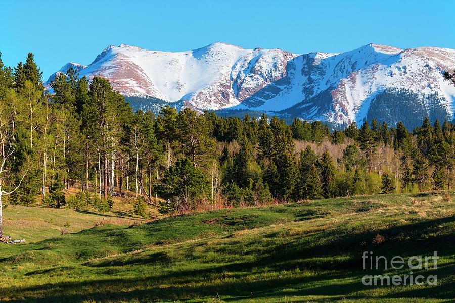 Snow Capped Pikes Peak Colorado Photograph