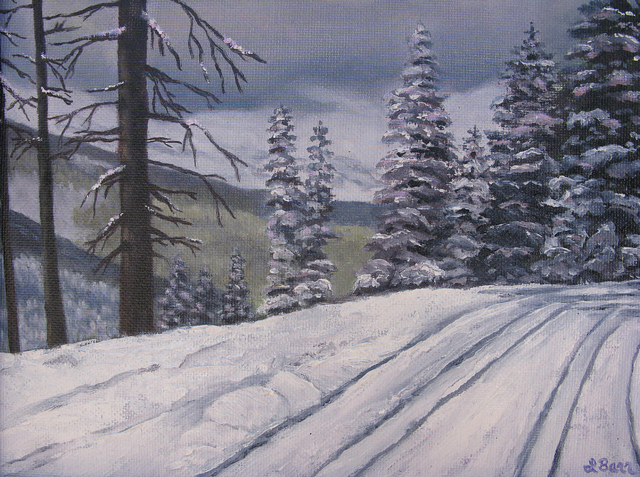Snow Painting - Snowbound by Lisa Barr