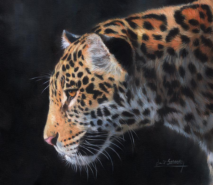Jaguar Painting   South American Jaguar By David Stribbling